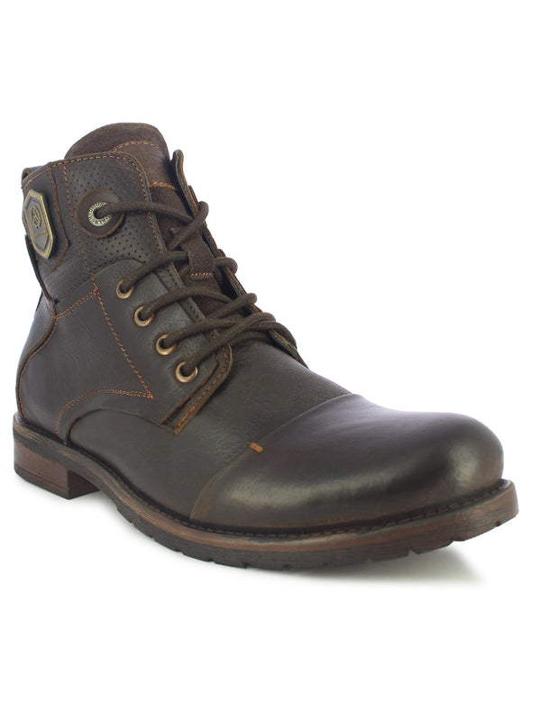 Alberto Torresi Men Coffee Eli High Top Boots