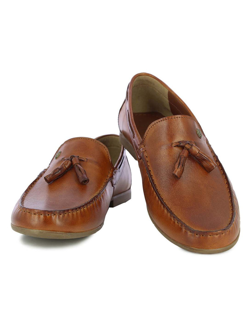 Alberto Torresi Mens Tan Jude Tassled Loafers