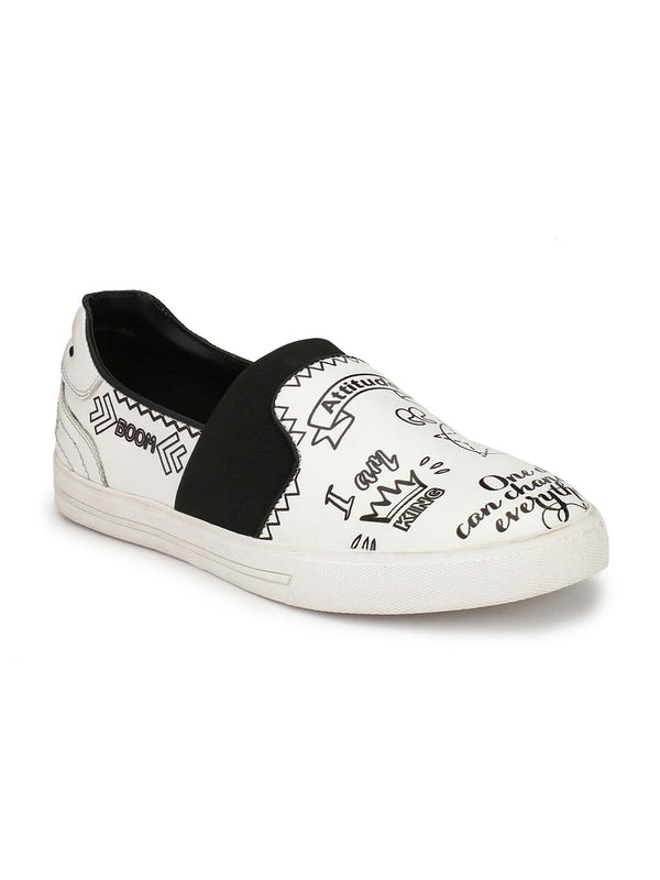 Alberto Torresi Men Tobias White & Black Sneakers