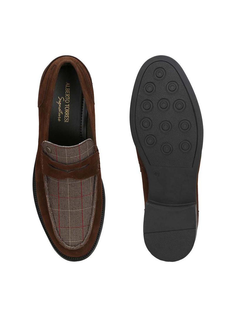 Alberto Torresi Men Tajo Dark Brown Shoes