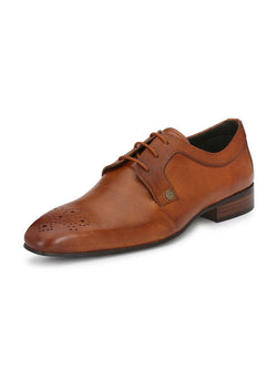 Alberto Torresi Men's Tan Kadan Formal Shoes