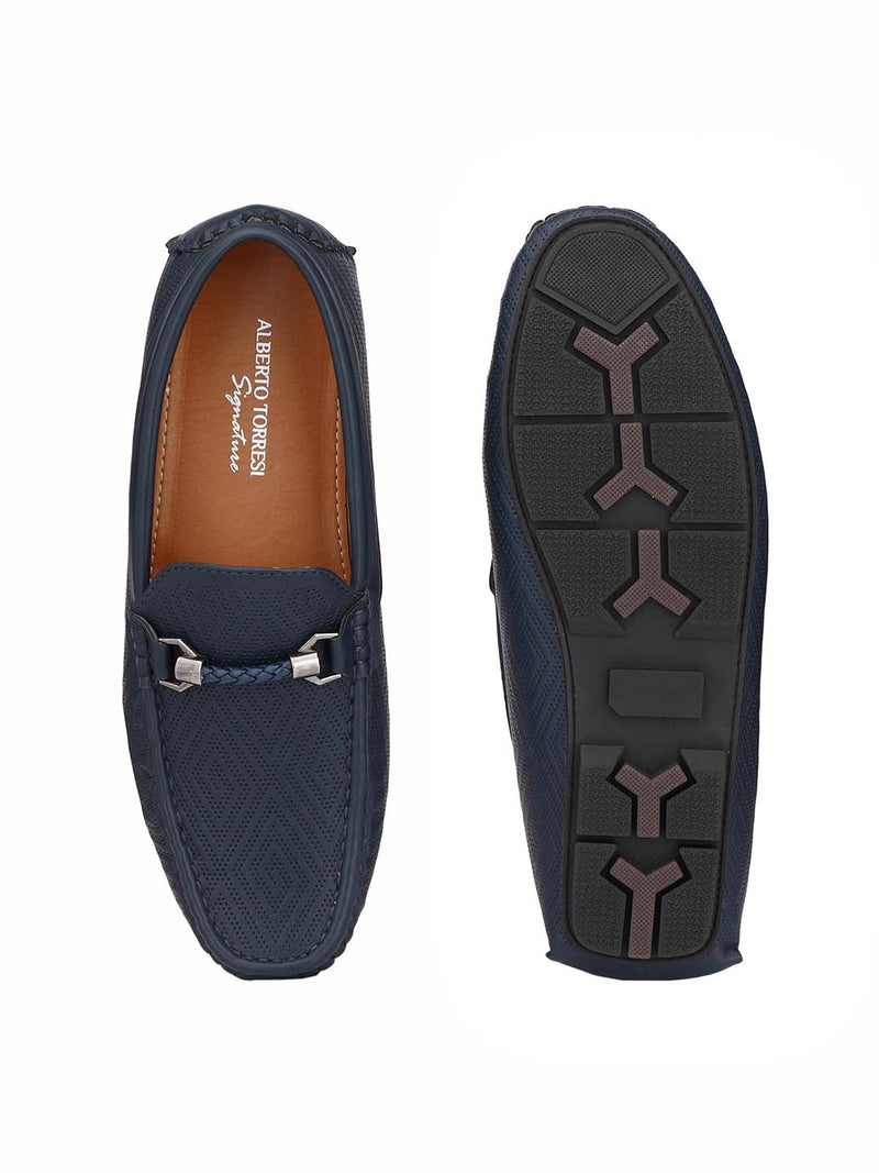 Alberto Torresi Mens Adonis Self Patterned Loafers