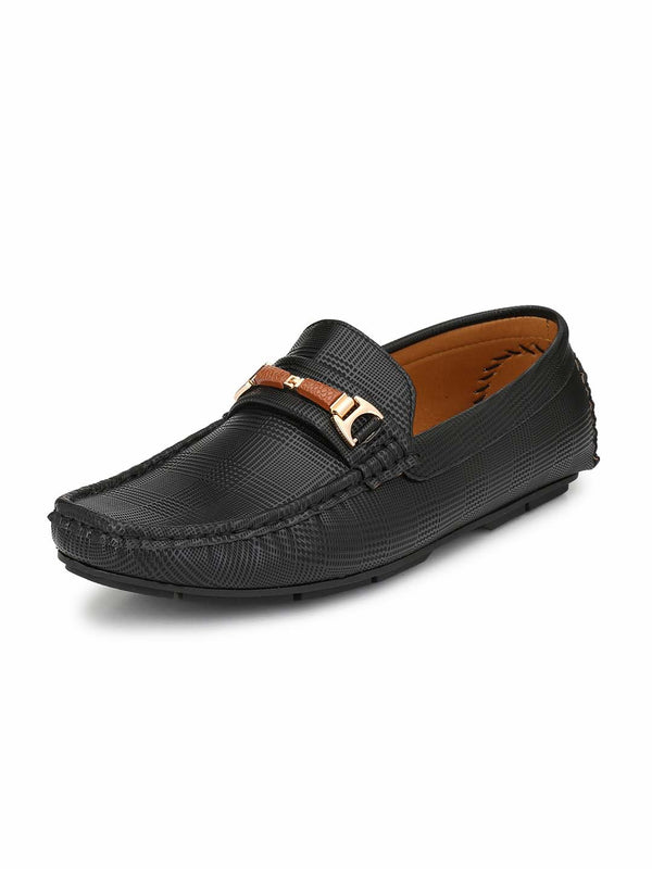 Alberto Torresi Mens Adrian Black Dyed Look Loafers