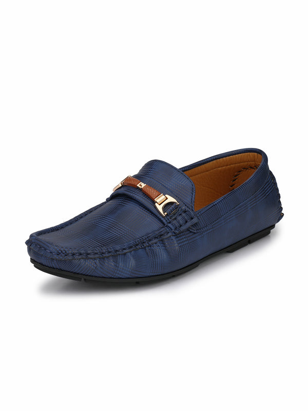 Alberto Torresi Mens Adrian Blue Dyed Look Loafers