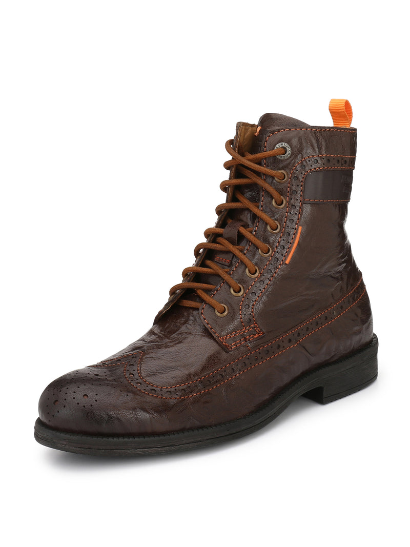 Alberto Torresi Men Brown Zayn Boots