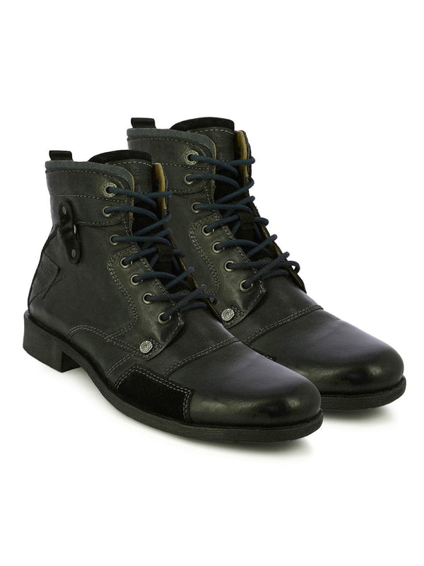 Alberto Torresi Men Black Bridger Boots