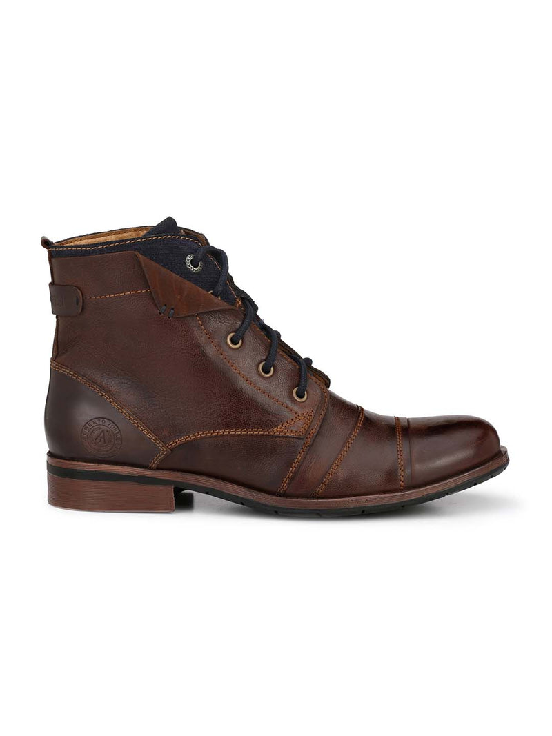 Alberto Torresi Men Brown Silas Boots
