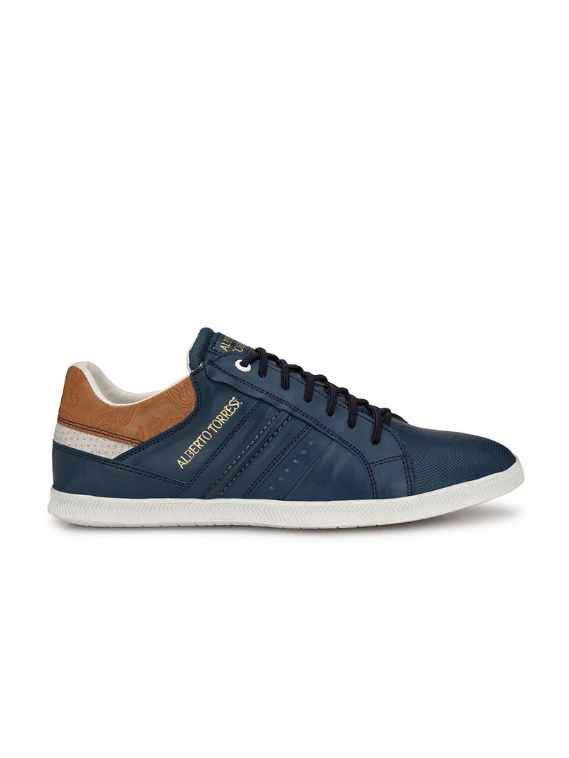 Alberto Torresi Men Peter Blue Sneakers