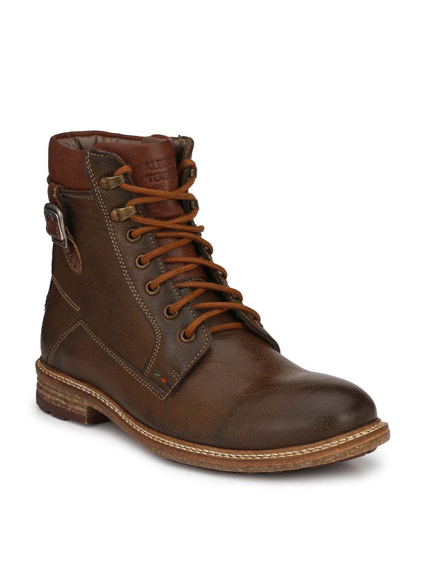Alberto Torresi Men Brown Caleb Boots