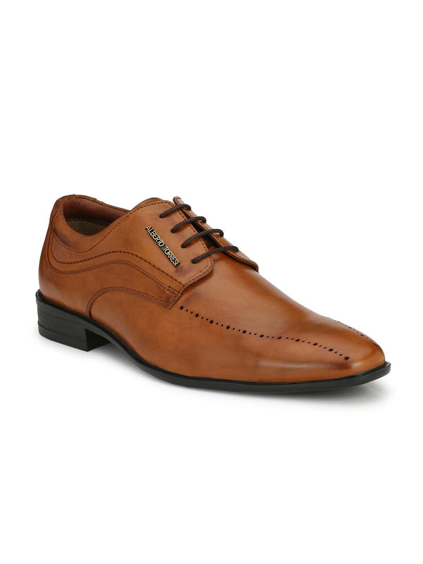 Alberto Torresi Men Timpteo Tan Shoes
