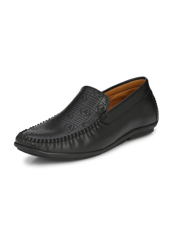 Alberto Torresi Men Taurino Black Shoes