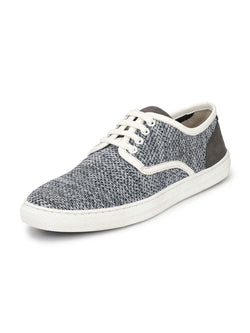 Alberto Torresi Men Max Grey & White Sneakers