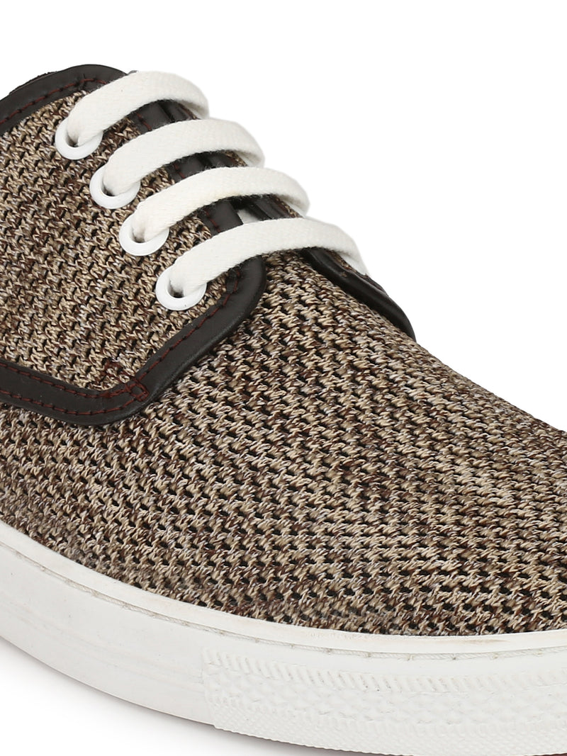 Alberto Torresi Men Max Beige & Brown Sneakers