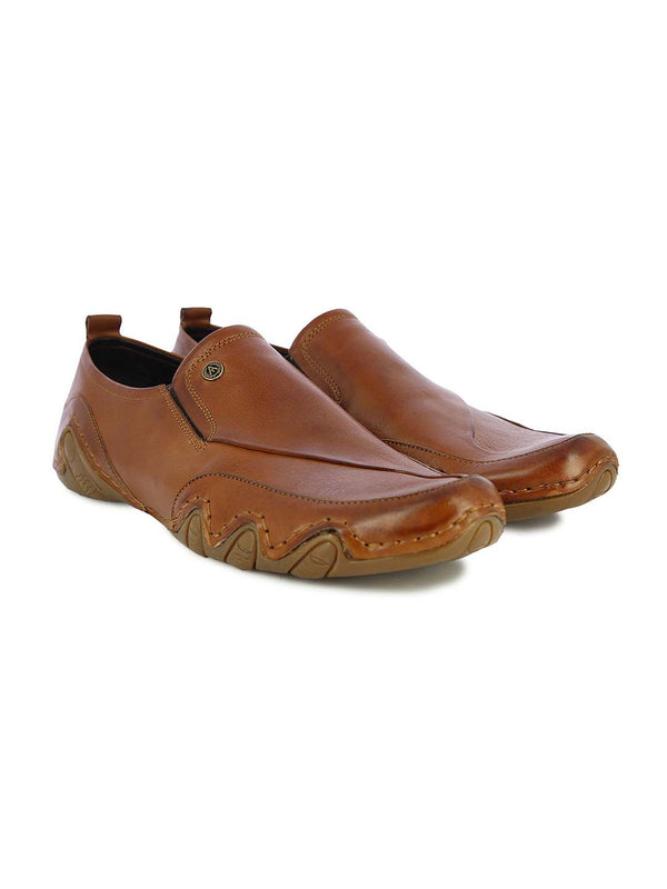 Alberto Torresi Mens Alfie Tan Sports Loafers