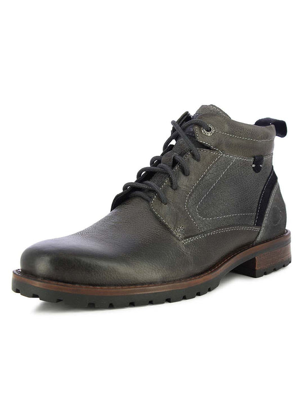 Alberto Torresi Men's Mostar Gray and Navy Boots