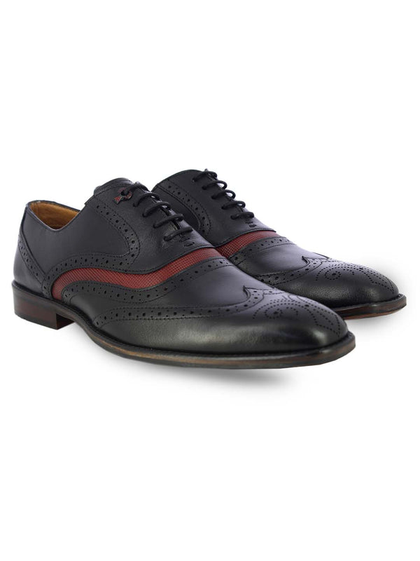 Alberto Torresi Mens Matteo Black Oxford Shoes