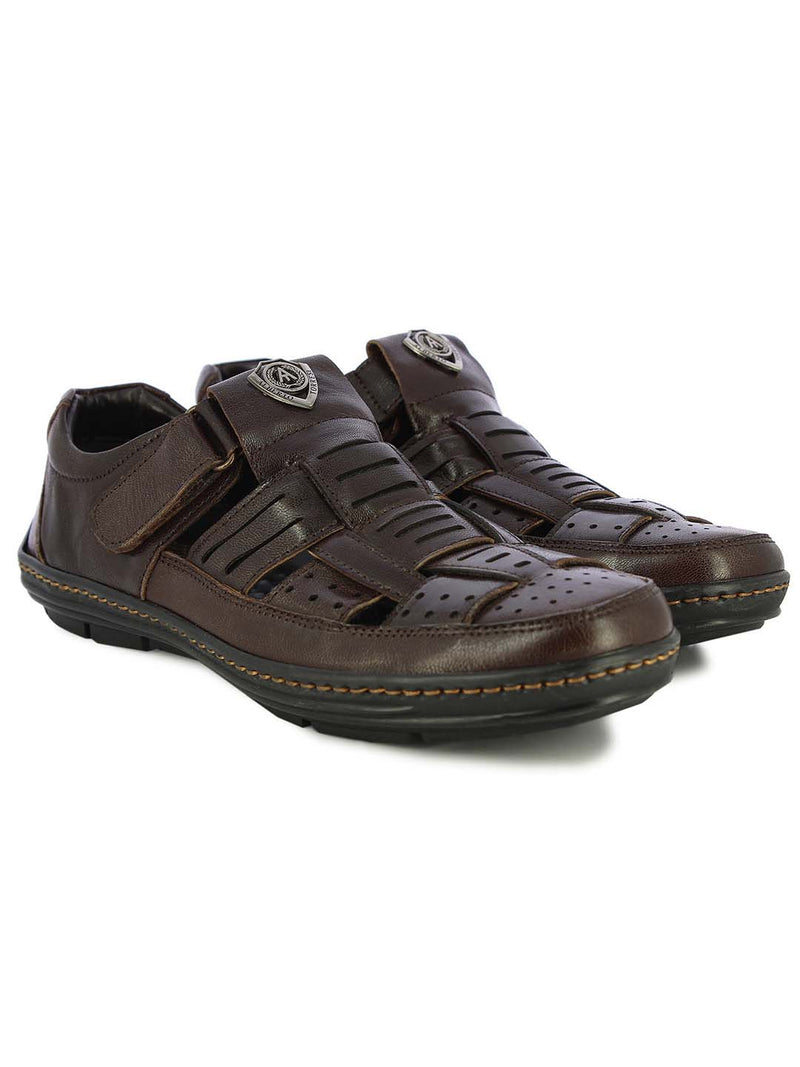 Alberto Torresi Mens Dark Brown Benjamin Sandals