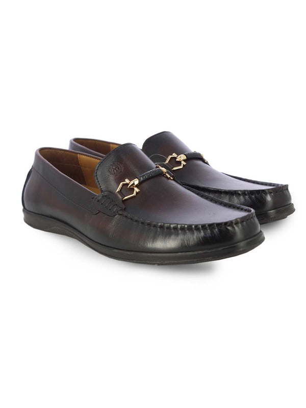 Alberto Torresi Mens Leon Brown Loafers