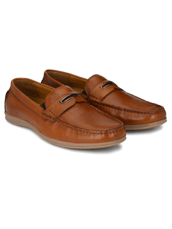 Alberto Torresi Mens Leon Tan Loafers
