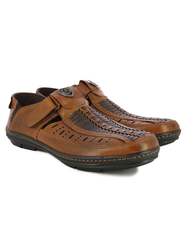 Alberto Torresi Mens Tan Harrison Sandals