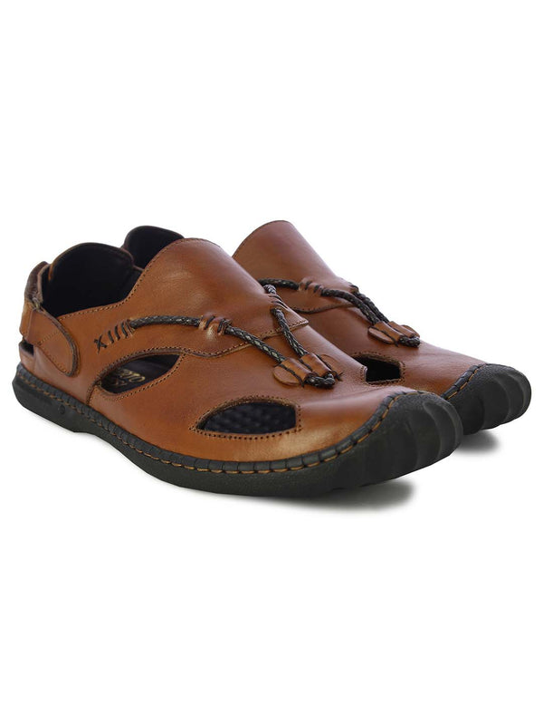 Alberto Torresi Mens Tan Mathew Sandals