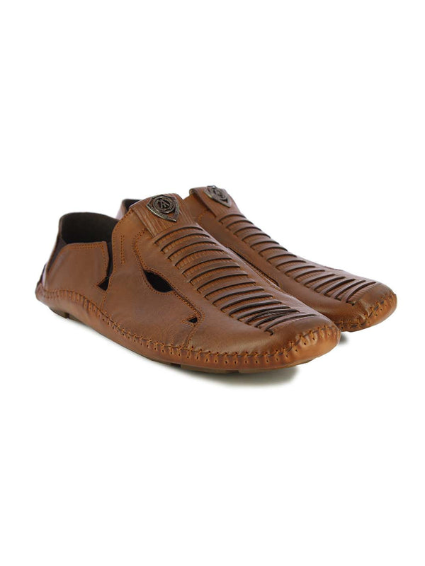 Alberto Torresi Mens Tan Adam Sandals