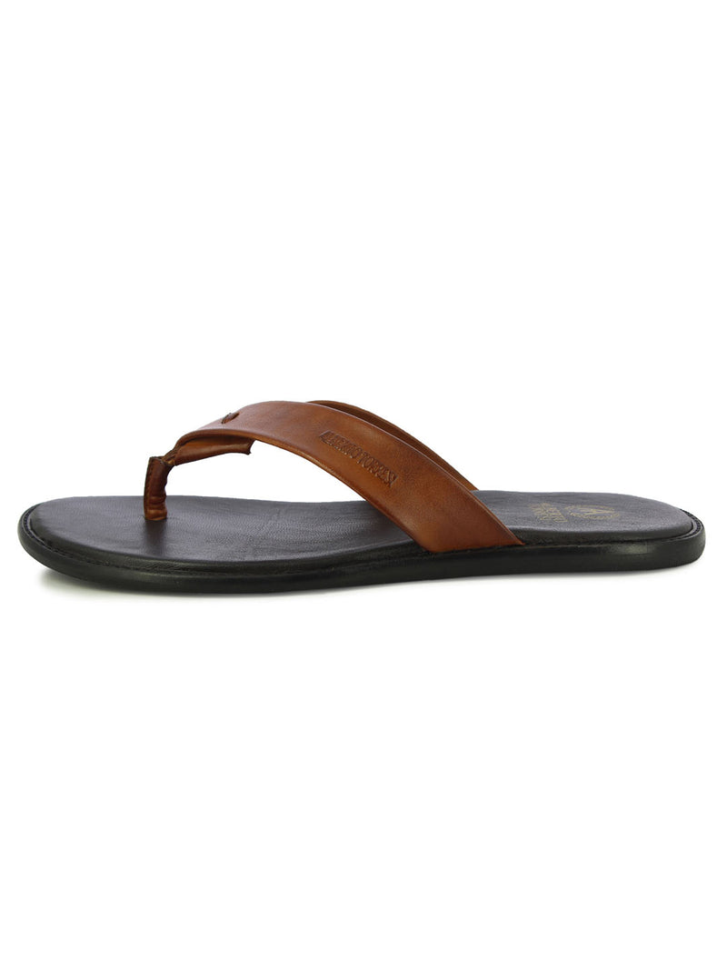 Alberto Torresi Berdo Men's Tan Slippers