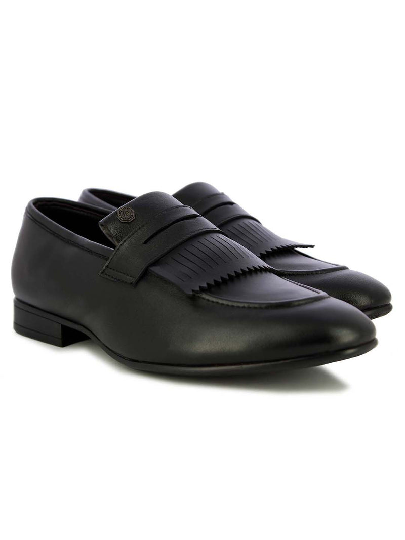 Alberto Torresi Men's Viktor Black Fringed formal shoes