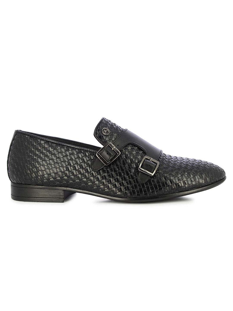 Alberto Torresi Men's Arbon Black Formal Shoes