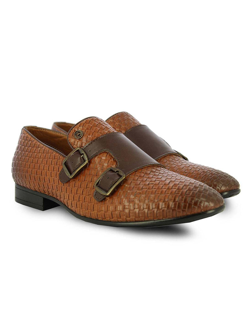 Alberto Torresi Men's Arbon Tan Formal Shoes