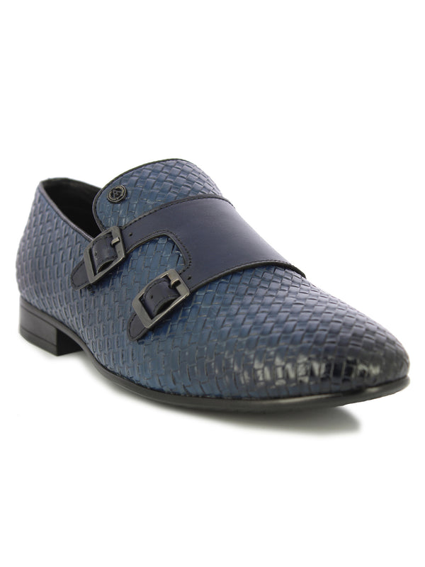 Alberto Torresi Men's Arbon Blue Formal Shoes