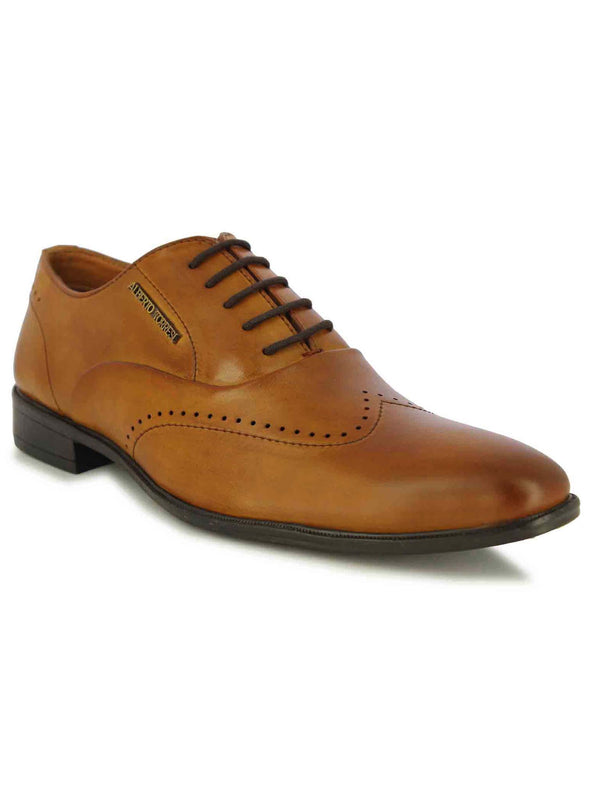 Alberto Torresi Men's Abbot Tan Formal Lace Up Shoes