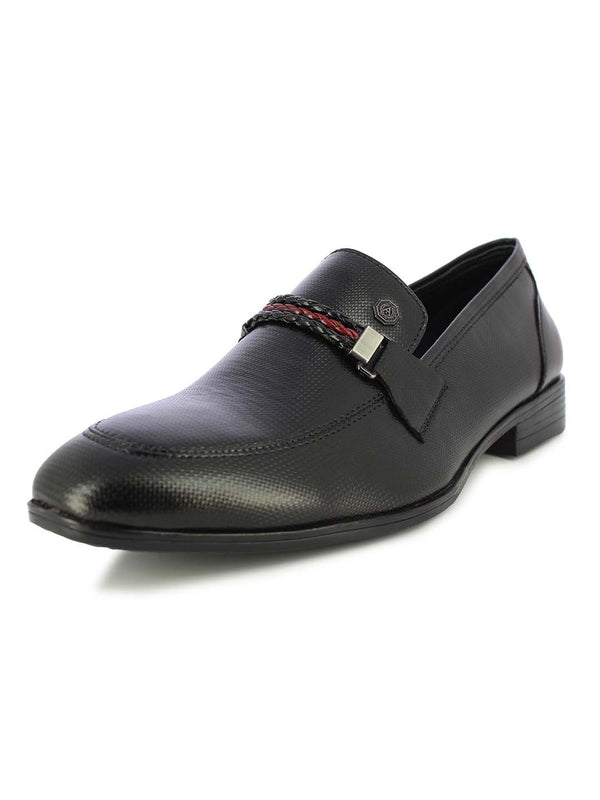Alberto Torresi Men's Gellert Black formal slip on shoes