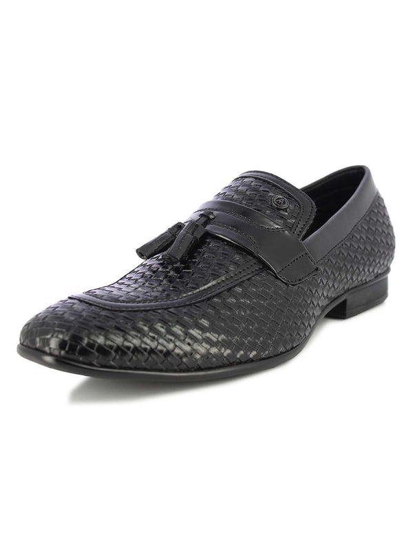 Alberto Torresi Men's Sauron black tassel slip on shoes