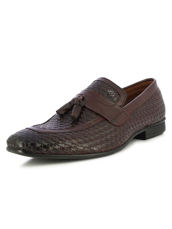 Alberto Torresi Men's Sauron Bordo Tassel Slip On Shoes