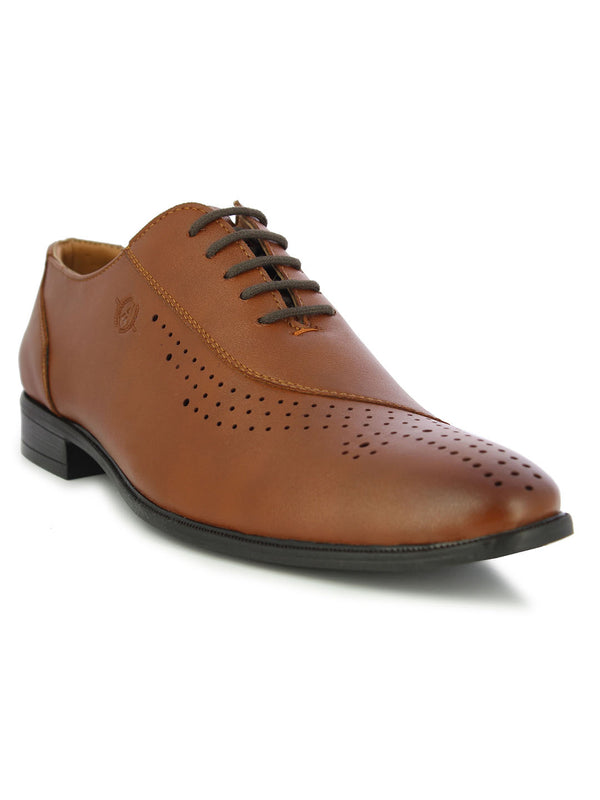 Alberto Torresi Men's Darwin Tan formal lace up shoes