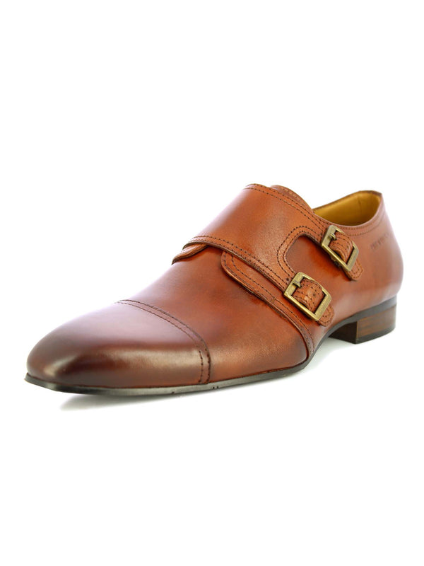 Alberto Torresi Men Herald Tan Double Monk Straps