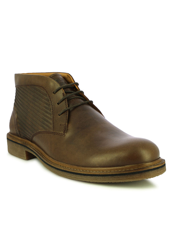 Bremen Men's Dark Brown High-top Shoes