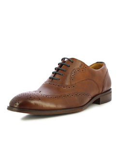 Alberto Torresi Men's Auberry Tan Brogues