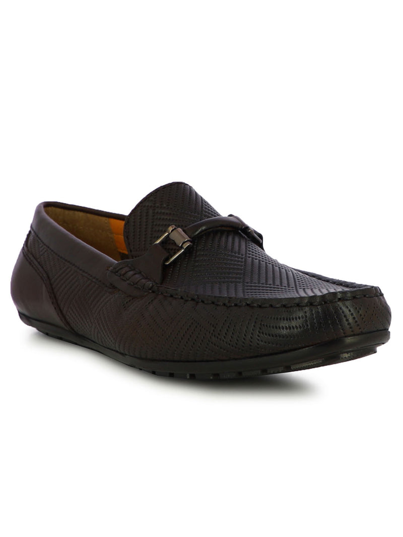 Travis Men's Brown Formal Loafers