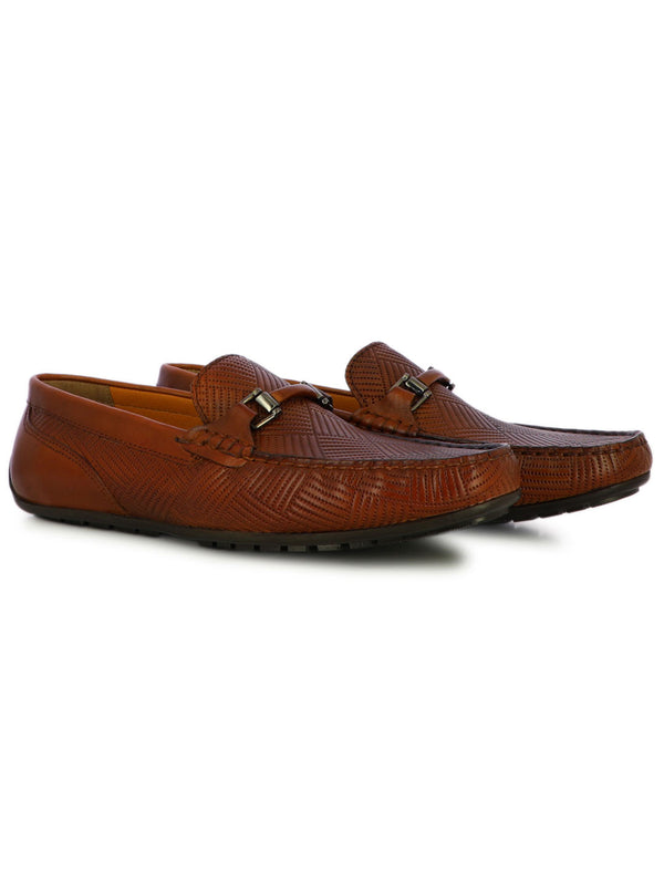 Travis Men's Cognac Formal Loafers