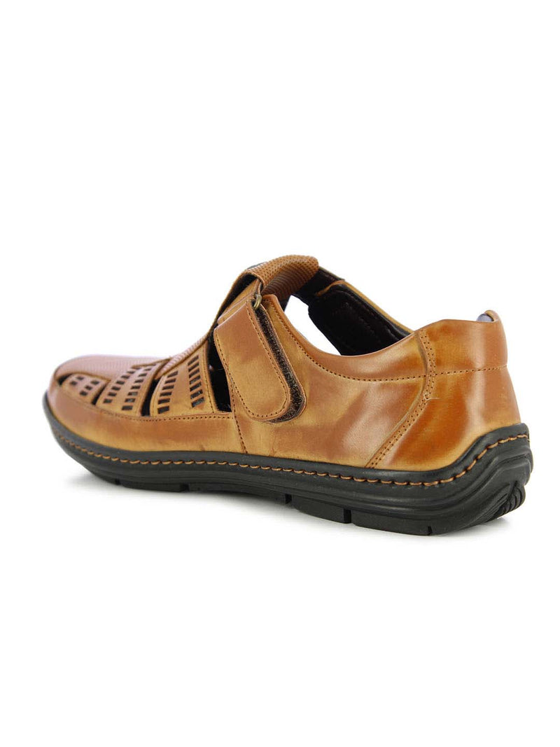 Alberto Torresi Men's Tober Tan Sandals