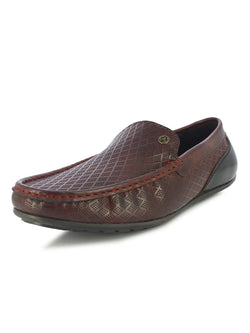 Alberto Torresi Men's Manna Bordo and Black Casual Loafers