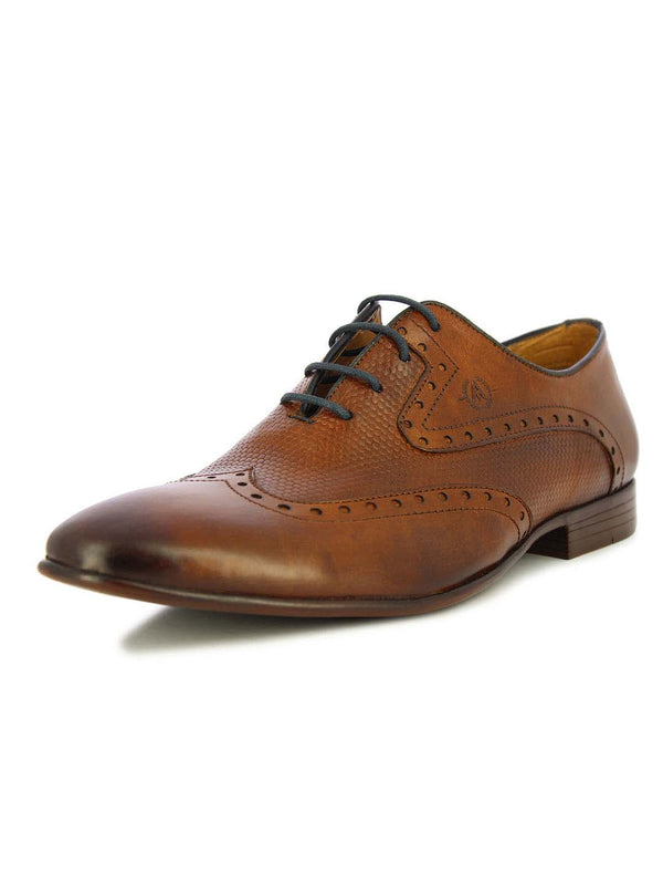 Alberto Torresi Men's Camden Tan and Blue Formal Shoes