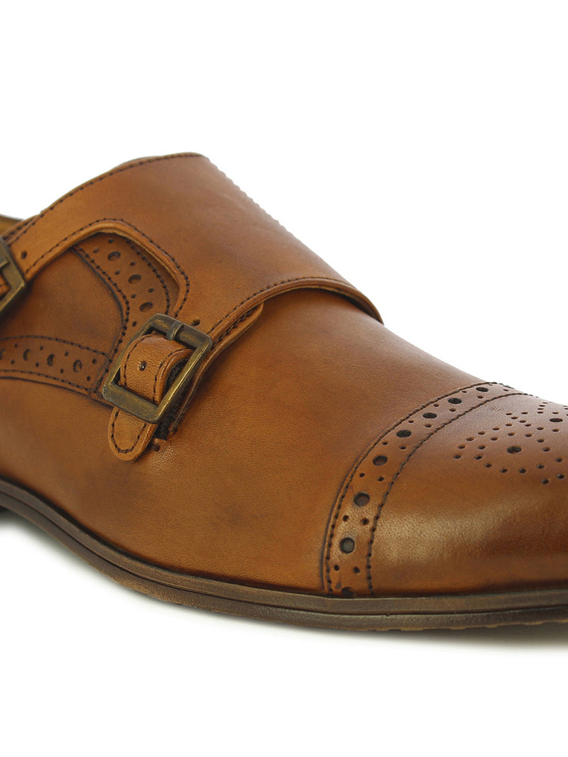 Alberto Torresi Men's Marfa Tan Monk Formal Shoes
