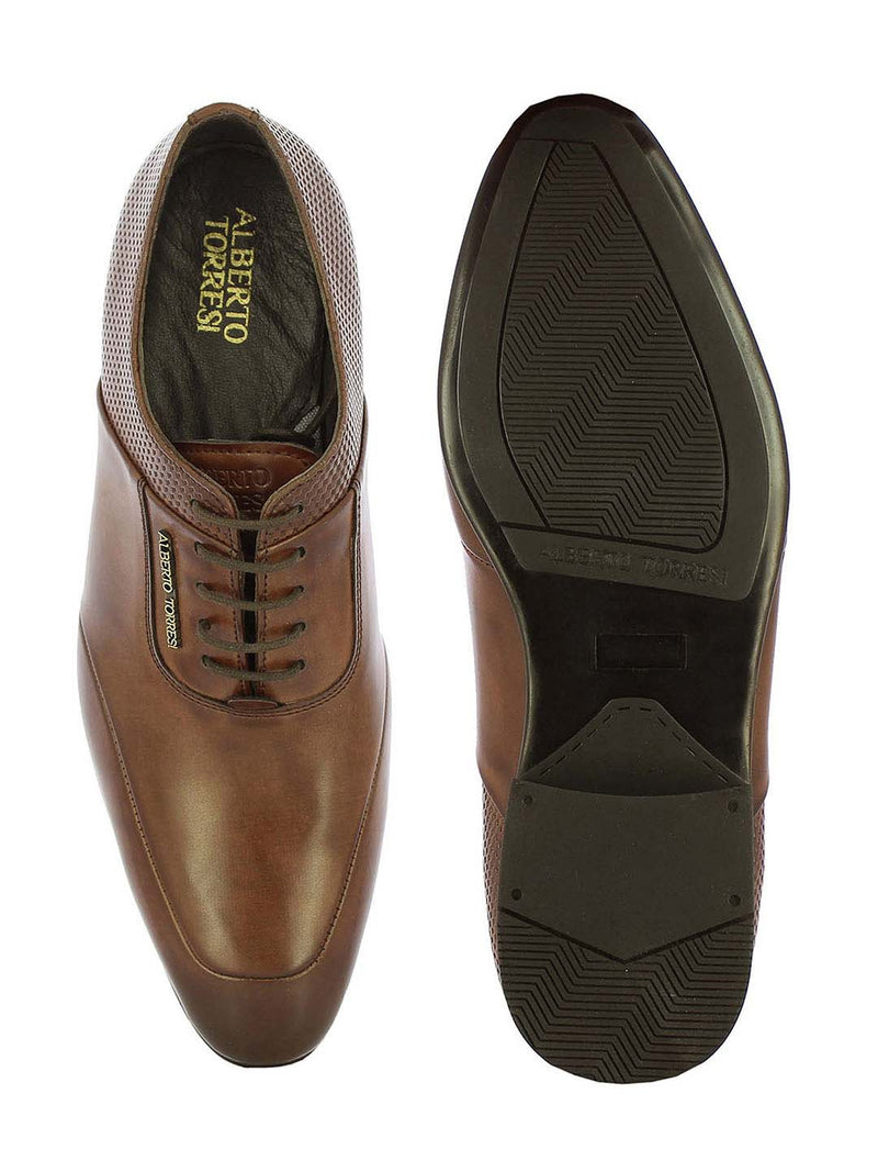 Alberto Torresi Men's Askon Brown Oxford Shoes