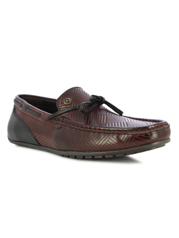 Alberto Torresi Men's Menlo Bordo and Black Side Loafers