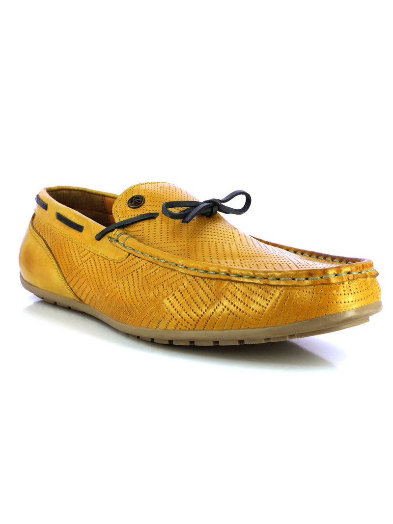 Alberto Torresi Men's Menlo Yellow And Blue Loafer
