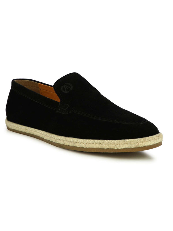 Alberto Torresi Men Hoston Black Casual Slip-Ons