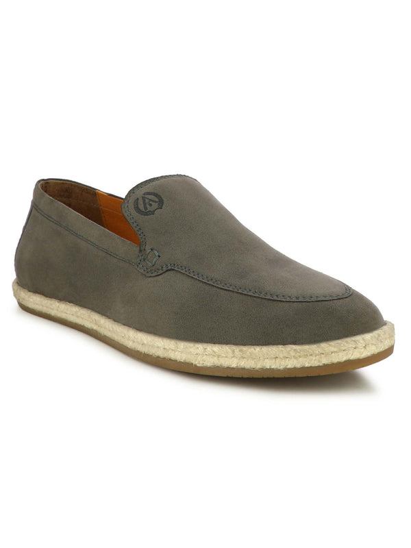 Alberto Torresi Men Hoston Grey Casual Slip-Ons